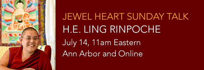 Sunday Talk with Ling Rinpoche
