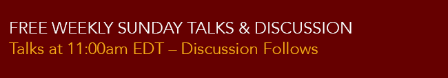 Sunday Free Talks & Discussion 1.5 height