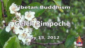 Tibetan Buddhism with Gelek Rimpoche 20