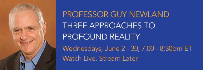 Professor Guy Newland: Three Approaches to Profound Reality